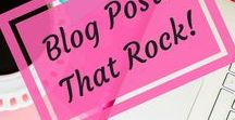 BLOG POSTS THAT ROCK!      {Group Board} / Share your own or others blog posts here.  Share things speak to your heart. Have FUN! Keep it clean.  Please try to repin one for every one you post. To request to join simply follow my account and message me here on Pinterest or email me at celene@thehappypreneur.com with your request and include your Pinterest URL.
