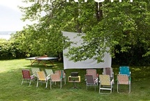 Backyard Movie Night / Decor and snack ideas for a backyard movie night!
