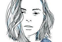 """Emeline Carré / Marketing Executive / Press Loft / Emeline évolue dans le monde des relations presse spécialisées dans l'univers de la maison et du lifestyle à Londres. Elle est aussi à l'origine du Tumblr """"le petit calepin"""" (emeline-carre.tumblr.com) pour lequel elle dessine portraits et silhouettes inspirés par des photographies, des personnalités ou d'illustres inconnus.  / by True Talents Gallery"""