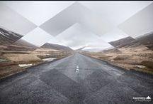 Florent Dabernat / Graphic & Web Designer freelance / L'approche du projet #Geometry & #Landscape est aussi simple que son nom : l'idée principale est de décomposer une image de paysage pour la recomposer en ajoutant un aspect géométrique à la création finale. A la manière d'une recherche à long terme, je m'efforce de faire une composition par jour. www.idseed.fr / by True Talents Gallery