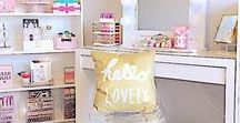 Makeup Organization / Beauty Room Ideas / Interior design ideas for a glam room or beauty room