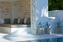 Finishing Touches / Tile, deck finishes and surrounding landscape tie in elements and create the mood for your pool.  Whether playful, relaxing or luxurious, these finishes will add that special touch.