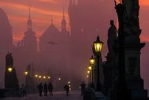 Prague by night / Our magnificent city as dusk falls