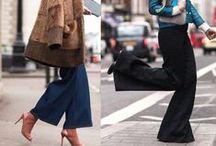 Spodnie rozszerzane, kuloty / Wide trousers, Culottes - FashYou