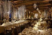 Fairmont Hotel San Francisco - Gold Room/Candle light / JL IMAGINATION Lighting Design & Audio Visual  Flowers by Amy Burke Designs