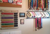 Race numbers / What to do with all race bib numbers? Let´s decorate a wall!!!!!