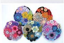 kwiaty papierowe filcowe