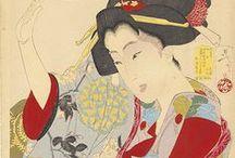 Ukiyo-e:月岡芳年Girls-Yoshitoshi / 1839年4月30日(天保10年3月17日) - 1892年(明治25 年6月9日)幕末から明治前期にかけて活動した浮世絵師