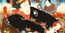 Ukiyo-e:歌川国芳Girls-Kuniyoshi / 寛政9年11月15日(1797年1月1日) - 文久元年3月5日( 1861年4月14日)江戸時代末期の浮世絵師