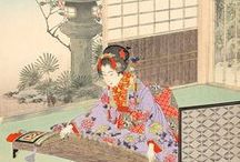 Art:水野年方-Mizuno Toshikata / 慶応2年1月20日(1866年3月6日)-明治41年(1908年4月7日) 明治時代の日本画家/浮世絵師