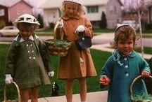 Vintage Easter Photos (with Creepy Bunnies)
