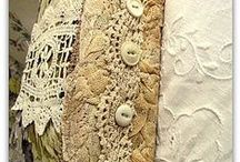 collage con bordados y telas