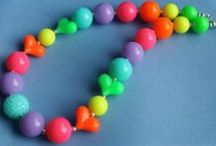 Neon Collection / Girl's Chunky Bead Necklaces - Bubblegum Bead Necklaces - Fashion Jewelry - Neon Trends