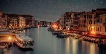 All around the world at night
