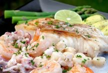 Fish and seafood recipes.