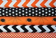 Fabric - Halloween / I know that these designs have orange and blue and black.. that's okay. Pin any Halloween fabric here and then pin them into the correct colour boards too :-)  Please feel free to invite others to join in on pinning to the board!