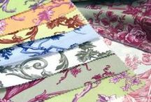 Fabric - Toile de Jouy / All Toile fabrics whatever their colours. Please feel free to invite others to join in on pinning to the board!