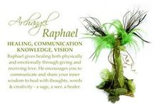 Archangel Raphael Inspiration / I love the colours that represent this Archangel, which for me are all the many colours of green you find in nature, ivy, ferns, mosses,spring greens and buds. By having beautiful things in these colours, it brings in the energy of Raphael, which gives us healing, harmony, vision and creativity.
