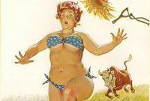 Hilda!!! / Hilda é uma criação do ilustrador Duane Beyers. Voluptuosa, um pouco desajeitada, mas nem um pouco tímida com a sua figura. Hilda foi uma Pin up atípica que enfeitou as páginas dos calendários americanos da década de 1950 até início de 1980.