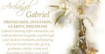 Archangel Gabriel Inspiration / I love the colours that represent this Archangel, which for me are rich golds, creams and white. By having beautiful things in these colours, it brings in the energy of Gabriel, which gives us protection, intuition, clarity and light.