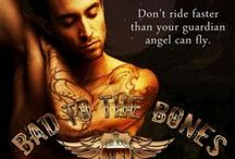 Bad To The Bones / Coming in September 2014.  Tattoo artist Knox's midlife crisis takes the beautiful form of Bellamy, on the run from a twisted cult, unaware of how much damage they've done to her.