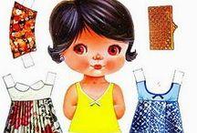 Bonecas de papel / Brincadeira de infância!!