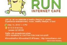 Smoothie Run Internet Cafe Healthy Community Event / Smoothie Run is presenting a community event for healthy living. This event will provide Laveen and South Phoenix an afternoon of fun and entertainment. May 14, 1-4 PM