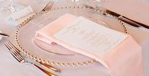 Amazing Blush and Gold / Collection of ideas for Blush and Gold wedding theme