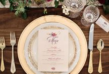 Burgundy & Gold Elegance / Ideas for burgundy and gold wedding theme