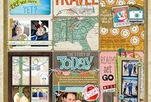 Scrapbook Layouts With Multiple Photos / Scrapbooking layouts that feature more than one photograph.
