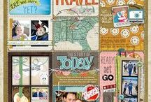Travel Scrapbooking Projects / Scrapbook Travel Themed Layouts and Projects www.creativescrapbooker.ca