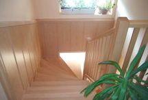 Beltéri fa lépcsők és lépcső képek / Beltéri fa lépcsők és tetőfeljárók www.stylfa.hu