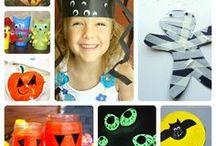 Идеи для детей на Хеллоуин / Игры, творчество, поделки, рисование и др. идеи для детей к празднику Хеллоуин.
