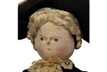Early Wooden Dolls / Early antique wooden and papier mache dolls.
