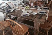 The Berwick-Table Setup Ideas / Guest Tables Setup with Different Linen Colors, Centerpieces, Favors, etc...