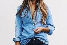 Denim | Navy | Stripes / Fashion ideas and looks with denim, navy and stripes