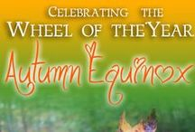 """WOTY: Autumn Equinox / The Autumn Equinox, or """"Mabon"""" is Sept 21-22 in the Northern Hemisphere. Feel the Magic of the season! Join us for this free Year and a Day course at www.AfuraFareed.com"""