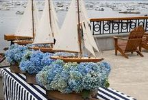 Nautical Nuptials | Boat Sea Nautical Wedding Theme / Sail away with me.