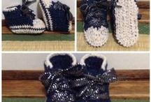 crochet shoes / I like to crochet  especially for my son.