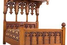 Псевдоготическая мебель / Мебель по мотивам готической архитектуры