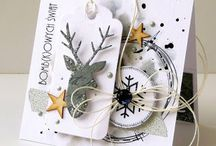 Julekort: Landskap/dyr/nisser/natur / kort