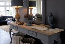 Mirror lamp console / Mirror lamps console table