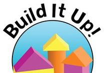 Build It Up: Construction with Children! / Our monthly theme Build It Up is all about gears, tools, job sites, safety, and working together! The inquiry process allows the children to spend the month exploring the elements of building that interest them most. The month culminates in our Special Event Skyscraper Day Competition!