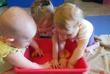 Sensory Play for Young Children / From infants to preschoolers, all children love sensory exploration. Here are some great ideas from our Creative World School Teachers around the country!