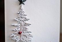 Julekort:Trær/grener/blader o.lign / Kortideer