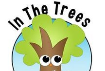 In the Trees / Have children noticed what is living in and around the trees? This inquiry provides an opportunity to explore trees and what lives in trees.  What kinds of trees are in your community?  What is living in those trees?