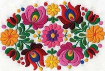Embroidery, tapestry and beadwork.