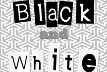 Black & White Preschool Theme / Black and white are associated with many things, such as light and dark.  Black and white are opposites on the color wheel, but are commonly placed together to contrast or complement one another. When mixed together, they create the color gray. When displayed with light, black and white images reflect light and create shadows.  Discover the ways in which black and white relate to one another and the world around us.