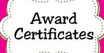 Award Certificates for Kids / Printable certificates and awards for kids and students to recognize achievement, build self-esteem, encourage additional effort, and promote positive values. Great for parents and teachers.