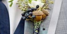 Autumn Wedding Buttonholes